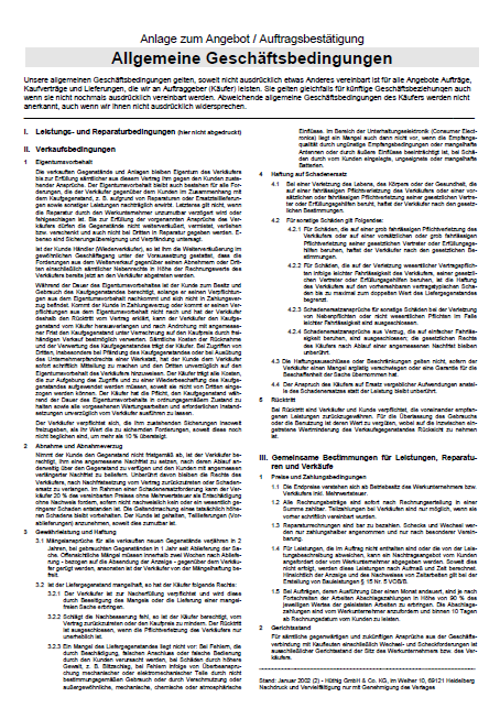 allgemeine geschftsbedingungen - Allgemeine Geschaftsbedingungen Muster